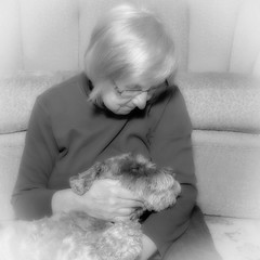 Just We Two (lclower19) Tags: 2252 522018 dog canine black white bw selfie rooney portrait companion ttl fillflash