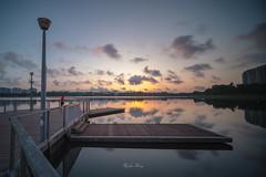 Sunrise (jacysf) Tags: sunrise platform dusk reservoir water bridge explore throughherlens waterscape longexposure reflections waterreflections