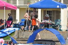 HBM Bayou St. John (Omunene) Tags: bench benchmonday bayoustjohn neworleans bayouboogaloo2018 concrete diywatercraft shirtless chest pecs nipples tattoos