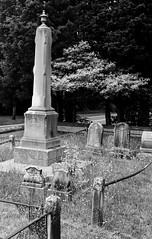 R1-061-29 (David Swift Photography) Tags: davidswiftphotography newjersey scullvillenj atlanticcountynj eggharbortownshipnj graveyards cemeteries historiccemeteries tombstone familyplot 35mm film historicpreservation nikonfm2 ilfordxp2