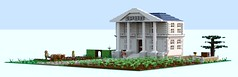 Spud Plantation in Port Raleigh (spud_the_viking) Tags: plantation potato manor house farming agriculture moc lego digital designer plough tattie redcoat colonial