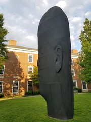 6-8-2018:  Ines is looking sculptural at Harvard Business School. Allston, MA