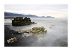 Fragment (lawm1) Tags: broken collapse disintegrate crumble erode rocks geology kaikoura mountains snowcap ocean seascape longexposure overcast marklaw photography lawm1