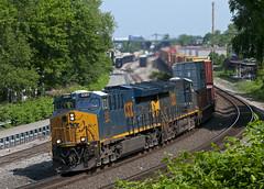 Double Oh Eight (Erie Limited) Tags: csx ridgefieldparknj riversub csxriversubdivision ge gevo et44ah tier4 cp5 q008 train railfan railroad