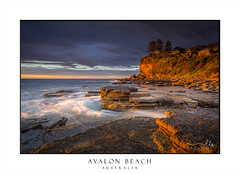 First light at Avalon Beach (sugarbellaleah) Tags: beach morning sunlight sunrise cliffs rock geology headland ocean water waves rockshelf sky clouds avalon avalonbeach coast horizon seascape seaside northernbeaches australia