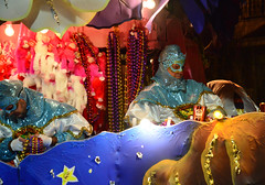 Serious Float Rider (BKHagar *Kim*) Tags: bkhagar mardigras neworleans nola la parade celebration people crowd beads outdoor street napoleon uptown night float orpheus krewe rider riders