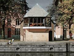 Lock keeper's office. (Koos Fernhout) Tags: geotagged tolpoort gent ghent belgium