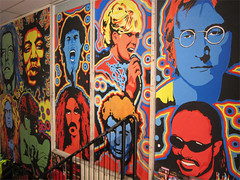 A tribute to the Artists of Yesteryear (Mary Faith.) Tags: art musicians past tribute artists 1960s80s singers bands mural
