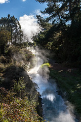 Hot Stream (Astronomr) Tags: newzealand taupo airdarkness water smoke steam geothermal