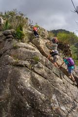 Climbing SE Ridge, Mt Barney (NettyA) Tags: australia mtbarney mtbarneynationalpark qld queensland seridge bushwalking seqld scenicrim bushwalkers