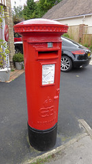 Edward VIII cypher B type post pillar box at old old Post Office Lilliput Road Poole 07.09.2017 (1) (The Cwmbran Creature.) Tags: g p o gpo general post office street furniture red heritage letter great britain gb