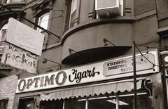 Vintage signs in Hoboken (Meredith Jacobson Marciano) Tags: sign icecream hoboken 35mm bw vanishing