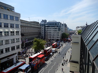 View from the roof of the Coutts Skyline garden: Charing Cross Station etc.