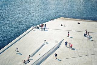 people in the sun in oslo