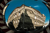 439 - André Kertész (kosmekosme) Tags: andré kertész andrékertész corner mirror weirdbuilding brick bricks distortion distortions blue sky kertészstreet street urban streetphotography photography photographer kertészandor andor hungary budapest kertészutea utea city capital window windows streetlight reflection reflections shadow shadows d80