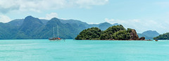 Paradise | Langkawi, Malaysia (Epskamp) Tags: panorama canoneos550d colors view ngc mountains langkawi malaysia asia ef24105mm140lisusm blue water boat sea ocean