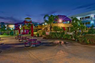 Flamingo Waterpark Resort, 2261 E Irlo Bronson Memorial Hwy, Kissimmee, Florida, USA / Built: 1972 / Floors: 3