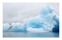 Jökulsárlón Glacier Lagoon (Bordered) (www.davidrosenphotography.com) Tags: lagoon jökulsárlón glacier iceberg iceland nature environment colour blue ice