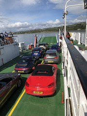 Ferry Crossing (syf22) Tags: car vehicle motor motorcar autocar auto porsche automobile boxster red convertible coupe guardsred 981s northernireland causewaycoast