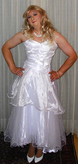 wedding gown (Martina H.) Tags: wedding gown dress blonde bride ball girl woman white elegant satin silk princess