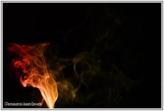 EXTRAÑA IMAGEN EN EL HUMO. STRANGE IMAGE IN SMOKE. NEW YORK CITY.