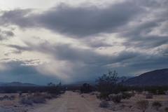 Might rain (ADMurr) Tags: california desert dusk road hasselblad 500 cm crop kodak ektar 120 dac818