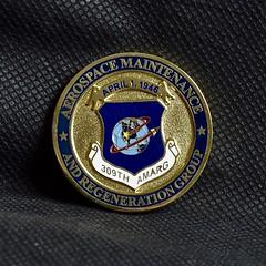 Brass 309th AMARG Coin (Eadbhaird) Tags: coin brass amarg 309th tucson davismonthanafb usaf airforce aerospacemaintenanceandregenerationgroup pimaairandspacemuseum memorabilia enamel