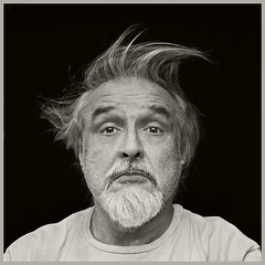 Me #7 2018; Bad Hair Day (hamsiksa) Tags: hair badhair day badhairday studio studioshot studioportraits blackwhite blackwhiteportraits man male men oldmen oldmenarebeautiful portrait selfportrait selfportraits portraitsofmen