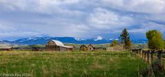 Mormon Row Homestead (pk_kyo) Tags: homestead mormonrow grandteton evening cloudy