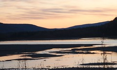 Yukon River Dawson City (Mr. Happy Face - Peace :)) Tags: sun cloud sky yukonriver dawsoncity yukon canada art2018 sunset pastels scenery landscape nature archives cans2s