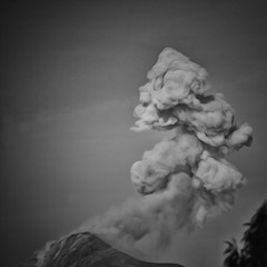 Volcán Fuego three days ago devastated the lives of many in Guatemala. (Pejasar) Tags: eruption ash bw blackandwhite active volcano guatemala antigua 12milesaway volcánfuego
