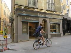Space Invader AIX_03 (tofz4u) Tags: 13 bouchesdurhône aixenprovence provence aix 13100 provencealpescôtedazur aix03 streetart artderue invader spaceinvader spaceinvaders mosaïque mosaic tile reactivated restauré spacerescueintl reactivationteam vert green gris grey vélo velo bike bicycle bicyclette street rue people boutique shop boulangerie lavarenne