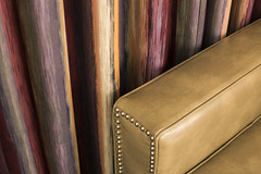 Couch Arm Curtain (Curtis Gregory Perry) Tags: couch arm curtain drape material fabric leather stud tack brad wale upholstery furniture davenport chesterfield drapery drapes nikon d810