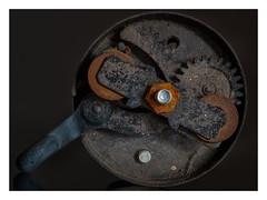 "Bicycle bell _ MM _ ""Transportation"" (Werner D.) Tags: transportation macromondays details macro makro bicycelbell fahrradklingel wernerd fotostacking technik rost rust zahnräder gears"