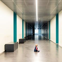 Miss Monamie (Bregg) Tags: arteveldehighschool gent ghent architecture minimal solitude lines toddler