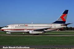 Canadian Airlines B737-217/Advanced C-GCPT (planepixbyrob) Tags: canadian canadianairlines boeing 737 737200 cgcpt ywg winnipeg kodachrome