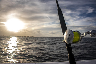 Fishing Reel at Sunset by ah360