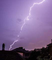 Lightstorm above Lausanne City (Florian GIORNAL) Tags: lightstorm lausanne city suisse orage foudre éclair switzerland swiss storm lightning cloud nature canton vaud