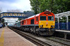 66009 - Reading West - 31/05/18. (TRphotography04) Tags: db cargo uk 66009 roars through reading west hauling 4o39 0943 morris cowley mat southampton eastern docks