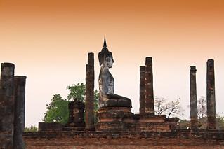 Sunset over Sukhothai  Historical Park