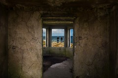 a room with a view (teedee.) Tags: donegal fanad north coast rocks beach composite ireland rundown old ruin people cracks