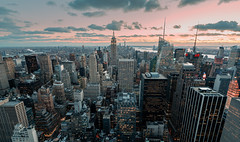 A City Like No Other (Gary Walters) Tags: newyorkskyline skyscraper empire state building sunset midtown nyc a7r2 lights city cityscape buildings a7r ii sony top of the rock a7rii empirestatebuilding topoftherock ibis