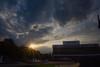 DSC07493 (alexkovalev07) Tags: нальчик закат июнь лето вечер небо облака город фонтан памятник