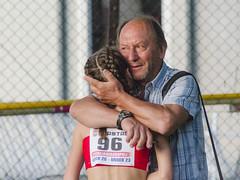Ilaria Piottoli con il tecnico Moreno Bottausci