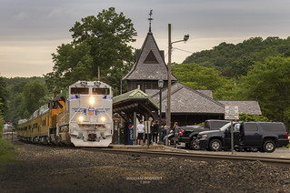 Tuxedo station NY with NS 066 (UP Office Car Special)