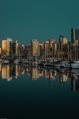 ooooo weeee the way the light hits the towers😏 #tasty (Sonika Arora 604) Tags: reflection reflections cityscape vancity vancouver explorebc bc britishcolumbia beautiful beautifulbc blue gree colours night longexposure boats buildings towers golden nikon nikonphotography nikonphotographer photography photographer nikond800 highlights shadows stanleypark park seawall stanleyparkseawall