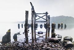 Old Pier (amcgdesigns) Tags: andrewmcgavin scotland scottishlandscape scottishweather eos7dmk2 oldbuildings old pier oldpier 10stopfilter hitechprond portsonachan lochawe misty water reflections rocks decay decayed derelict