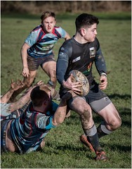 The tackle (Hugh Stanton) Tags: rugby ball tackle action