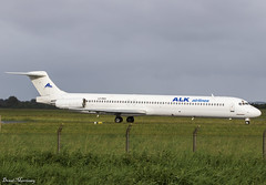 ALK Airlines MD-82 LZ-DEO (birrlad) Tags: shannon snn international airport ireland aircraft aviation airplane airplanes airline airliner airways airlines taxi takeoff taxiway departing departure runway lourdes charter flight alk md82 lzdeo mcdonnell douglas maddog