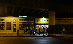 Under the bridge [Dublin Streets] (AJ.L) Tags: dublin city center bridge people lives busy waiting awaiting bus cach life shopws lights atmosphere